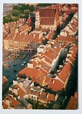 LOT Polish Airlines postcard, Warsaw, Old Town Market Square