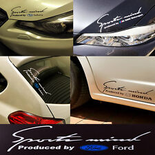 Reflective Stylish Decal Sticker Sport Mind Ford Emblem H: 9cm x W: 25cm Silver