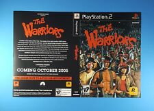 The Warriors RP Promotional Retailer Cover Art PS2 Rockstar Games 2005