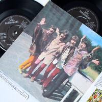 "THE BEATLES MAGICAL MYSTERY TOUR EP 7"" VINYL +BOOK+LYRIC 1967 UK PRESSING EX+"