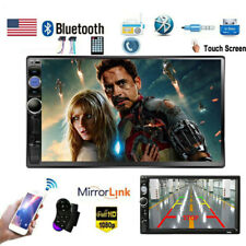 """Car Stereo Radio Bluetooth Audio Receiver Double 2 DIN 7"""""""" Touch Screen USB AUX"""