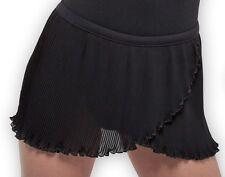 NWT Dance Bloch Black Mock Wrap Pleated Skirt Ladies Small Adult R5160