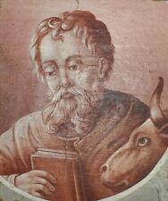 1750-MAGNIFICO DIPINTO BAROCCO: RITRATTO DI SAN LUCA EVANGELISTA ED UN TORO