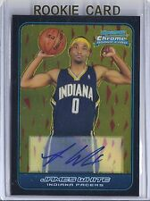 2006-2007 Bowman Chrome Basketball James White Indiana Pacers Autographed RC