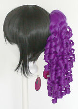 18'' Ringlet Curly Pony Tail Clip Indigo Purple Cosplay Lolita Wig Clip Only NEW