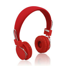 NEW Red Bluetooth Headphones Wireless Designer Headset With Microphone Bass