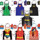 DC Comics Original Männer Superhelden Küchen Grill Schürze Topflappen Apron Set