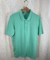Adidas Teal Short Sleeve Men's Polo Golf Shirt Size Medium