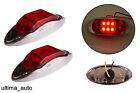 2 piezas 24v 6 LED Lateral Trasero Cromo Marcador Rojo Luces Para Scania Man