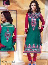 """44"""" XL Cotton Salwar Kameez Bollywood Indian Party Dress Rama Size 14 - 16"""