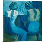 ARTCANVAS Two Women Sitting at a Bar 1902 Canvas Art Print by Pablo Picasso