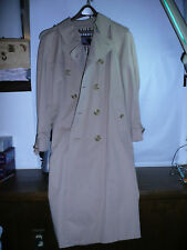 Burberry London Men's Long Tan Trench Rain Belte Coat  (Size  See Pictures )
