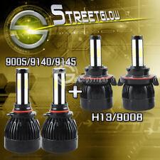 H13 HI/LO LED Headlight Bulbs+9145 9140 Fog Lights for 2005-2016 Ford F250 F350