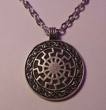 NEW Viking / Celtic / Pagan Black Sun Wheel Symbol for Victory Pendant Necklace