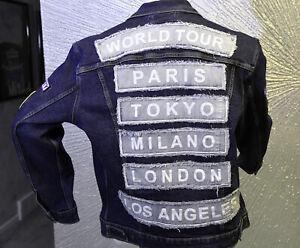 Led Zeppelin Satin Black Licensed Band Concert Jacket Junior Size Large NEW