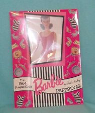 1994 Peck Aubry Paper Dolls 1964 Swirl Ponytail Barbie with Red Swimsuit