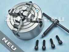 Vierbackenfutter 125 mm für zylindrische Aufnahme mit 4 x M 8 Gewinden NEU