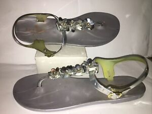 Kate Spade farrah floral jelly sandals Size 10