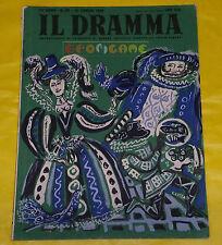 IL DRAMMA 1949 n. 89 - Copertina Emanuele Luzzati - Opere: vedi inserzione