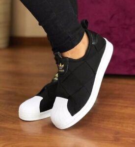 Adidas Originals Superstar Slip On Women's Athletic Sneaker Casual Shoe Trainer
