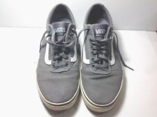 9704f4ed8d Vans Men Off the Wall Skate Shoe Sneaker Low Cut Lace Pewter Gray White  Size 11