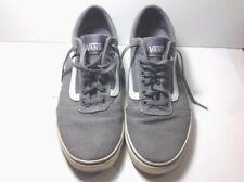 Vans Men Off the Wall Skate Shoe Sneaker Low Cut Pewter Gray White Size 11