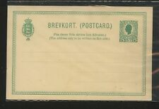 Danish West  Indies   postal  card  5  cent  green          KL0803