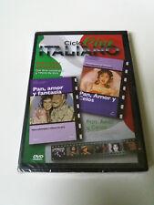 """DVD """"PAN AMOR Y FANTASIA / PAN AMOR Y CELOS"""" PRECINTADO SEALED GINA LOLLOBRIGIDA"""