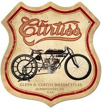 Vintage Glenn H. Curtiss Motorcycle Metal Sign Man Cave Home Wall Decor FRC075