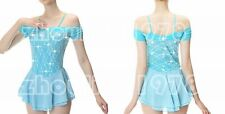 Custom Ice Figure Skating Dresses skating costumes For Adults or Girls Blue lace