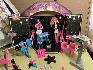 Vintage Barbie Ken Rockers Hot Rockin Stage Playset Play Set Lot Nearly Complete