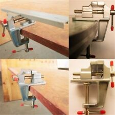 """Mini Aluminum Small Jewelers Hobby Clamp On Table Bench Vise Tool Vice 3.5"""" A5C"""