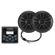 Boss Audio MCKGB450B.6 Marine Package - In-Dash Marine Gauge Digital Media AM/FM