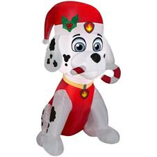 3 ft. PAW Patrol Marshall the Fire Pup with Candy Cane Christmas Inflatable