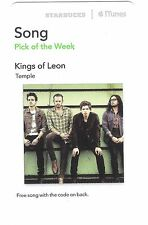 Starbucks Music Card (Expired) - US American Rock Band Kings Of Leon