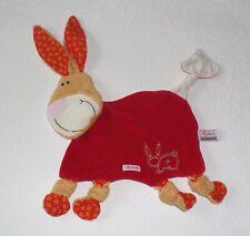 Sigikid Hase Hasi Häschen Esel Pferd Pony in rot braun Schmusetuch Schnuffeltuch