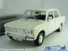 FIAT 125P MODEL CAR 1:43 SCALE WHITE + DISPLAY CASE IXO IST FSO LADA VAZ 2103 K8