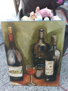 """PICTURE OF WINES 19x15"""" WOOD PRINTED"""