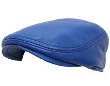 Cap Ivy De Cuero Para Hombres Azul Real Golf Bunnet diariero Boina Gorro Gorra Plana Gatsby