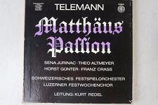 Telemann Matthew Passion Sena Jurinac Kurt Redel Orbis hi-fi74961 lp50