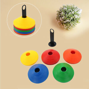50 x Training Running Fitness Cones Football Sports Marker Disc with Stand UK