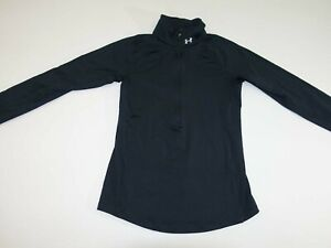 Under Armour Women's 1/2 Zip Cold Gear Jacket Size XS Black X-Small Pullover