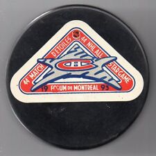 1993 All Star Game Forum de Montreal Canadiens NHL Hockey Puck + FREE Cube