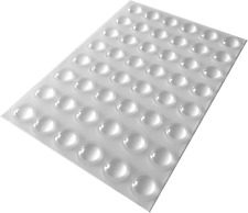 48 Clear Self Adhesive Domed Rubber Feet, Bumper Stops for Furniture, Glass, - x