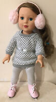 18 inch American Girl Doll Pink Ice Skates