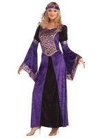 Ladies Renaissance Maiden Medieval Juliet Tudor Queen Fancy Dress Costume New