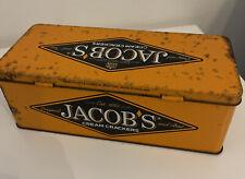 Jacobs Cream Crackers-Orange & Black Vintage Biscuit Tin