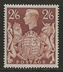 GB 1939 2/6 brown superb unmounted mint MNH SG#476 cat £100