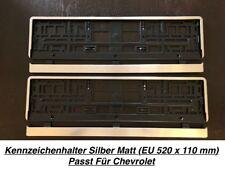 2x Top Kennzeichenhalter Silber Matt Chrom Optik Gebürstet Made in EU (10