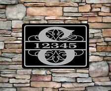 "Personalized Monogram Home Address Sign Aluminum 12"" x 8"" Custom House plaque"